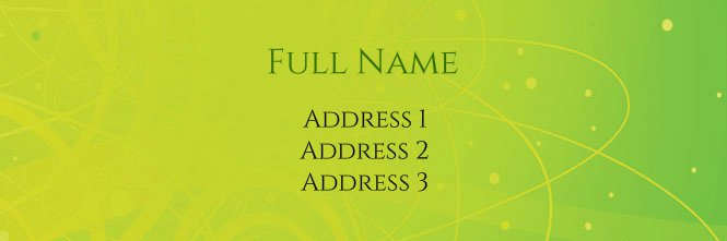 Green and Yellow Dots Address Label Template